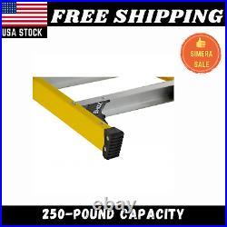LADDER ELECTRICIAN FIBERGLASS STEP 8 Ft Folding Extension Heavy Duty Equipment