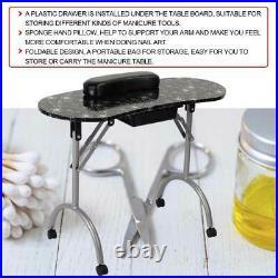 Large Portable Manicure Nail Table Station Desk Spa Beauty Salon Equipment + Bag