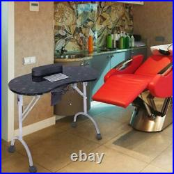 Large Portable Manicure Nail Table Station Desk Spa Beauty Salon Equipment withBag