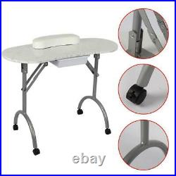 Manicure Nail Table Portable Station Desk Spa Beauty Salon Equipment with Bag