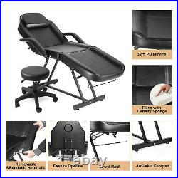 Massage Table Adjustable Massage Facial Bed And Barber Stool Spa Salon Equipment