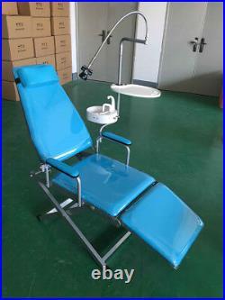 Mobile Dental Portable Folding Chair & Rechargeable LED Light Headrest Equipment
