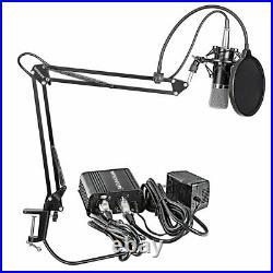 Music Recording Equipment Home Studio Package Bundle Professional Broadcast Set