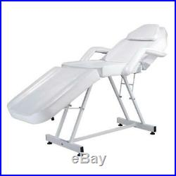 NEW Adjustable Spa Facial Tattoo Massage Bed Chair Beauty Equipment Salon White