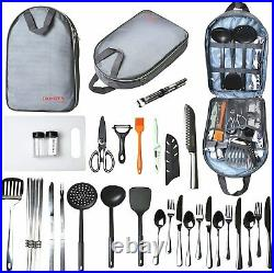 NEW Camping Cooking Utensils Set Camp Kitchen Equipment Portable FREE SHIPPING