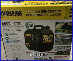NEW Champion Power Equipment #100478 Portable 2000 Watt Inverter Generator