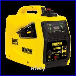 NEW Champion Power Equipment 2000 Watt Inverter Generator Portable SUPER QUIET