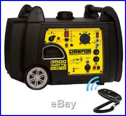NEW Champion Power Equipment 3500 Watt Inverter Generator Remote Start Portable