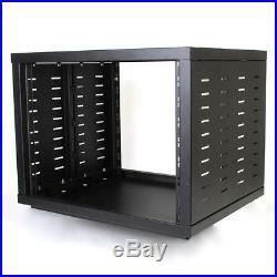 NEW PA DJ 12RU 19 Portable Equipment Storage Rack Mount Case. On Wheels. 12U. Gear