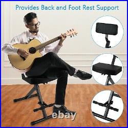 NEW Pyle PKST70 Musician & Performer Chair Stool Durable Portable Adjustable
