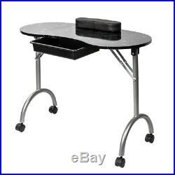 Nail Work Table Manicure Set Portable Station Desk Spa Salon Beauty Equipment