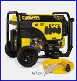 New! CHAMPION POWER EQUIPMENT Portable Generator 9375/7500-Watt Electric Start