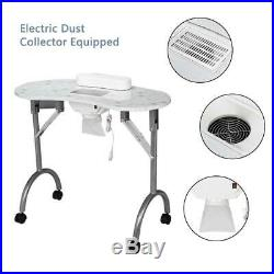 New Portable Manicure Nail Table Desk Salon Beauty Equipment with Dust Collector