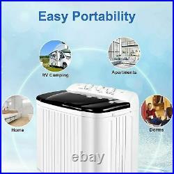 Nictemaw Laundry Washing Machine Semi-automatic Washer Equipment WithDehydration