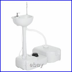 Outsunny Camping Portable Hand wash Sink Basin Water Tank Drainage Equipment