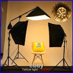 Photo Studio Lighting Kit Professional Photographic Light Equipment Set Tool New