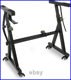Plixio Piano Keyboard Stand withWheels Z Style Adjustable & Portable