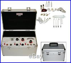 Portable 5 in 1 Galvanic High Frequency Brush Facial Machine Spa Salon Equipment