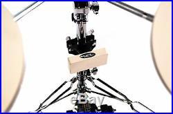 Portable 5-piece pad set Drum setup Quiet practice drumming equipment kit