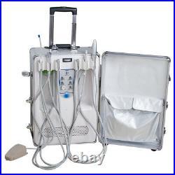 Portable Delivery Unit Cart Suitcase Compressor Dental Equipment + Handpiece Kit