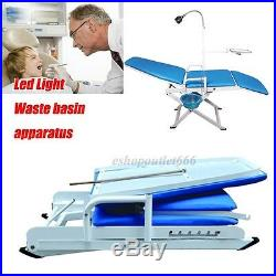 Portable Dental Chair Cold Light + Cuspidor Tray Dentistry Equipment Mobile Unit