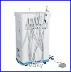 Portable Dental Delivery Treatment Cart Unit Equipment Mobile Compressor Scaler