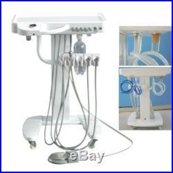 Portable Dental Equipment Self Delivery Mobile Cart System Weak Suction Unit 4H