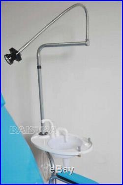 Portable Dental Folding Chair Unit Equipment + Turbine Unit + LED Light Lamp