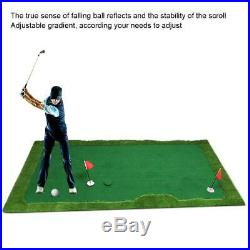 Portable Golf Putting Green Mat with Gradient Equipment for In/Outdoor Training