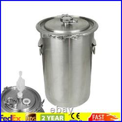 Portable Handle 20L 5 Gallon Brewing KettleStainless Steel Beer Wine Pot