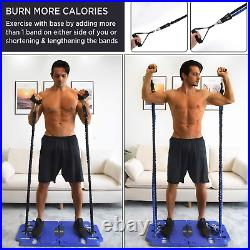 Portable Home Gym Exercise Equipment Resistance Band Bar Build Workout Full Body