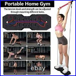 Portable Home Gym, Muscle Build Workout Equipment for Men and Women, Exercise E