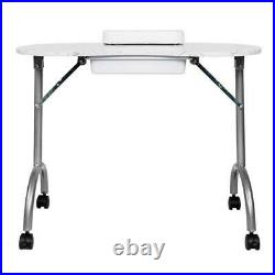 Portable MDF Manicure Table with Arm Rest & Drawer Salon Spa Nail Equipment