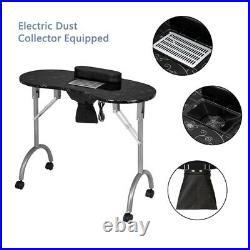 Portable MDF Manicure table Spa Beauty Salon Equipment Service Desk Cushion&Fan