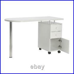 Portable Manicure Nail Table Station Desk Spa Beauty Salon Equipment White