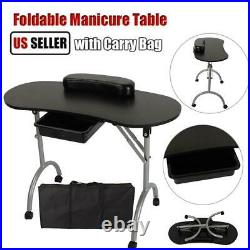 Portable Manicure Nail Table Station Desk Spa Beauty Salon Equipment withCarry Bag