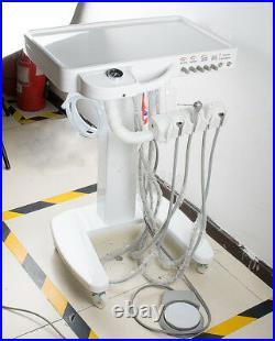 Portable Mobile Cart Dental Delivery Unit System Equipment Syringe Handpiece Kit