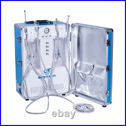 Portable Mobile Dental Turbine Unit with Air Compressor 3-way Syringe Equipment