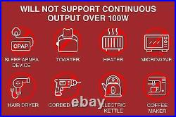 Portable Outdoor Camping Power Equipment Station 155 Wh Backup Battery Outlet