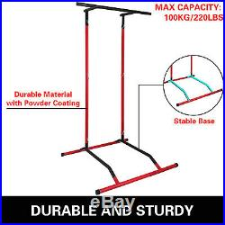 Portable Pull Up Dip Station Gym Bar Power Tower Equipment Training Exercise