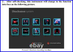 Portable Shock Wave Physical Therapy CE Equipment Pain Relief ED Physiotherapy