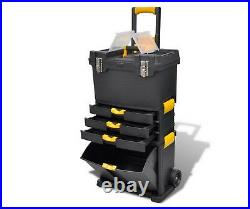 Portable Tool Case Chest Storage Tools Trolley Box Castors Equipment Drawers