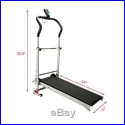 Portable Treadmill Folding Fitness Equipment Home Exercise Running Machine