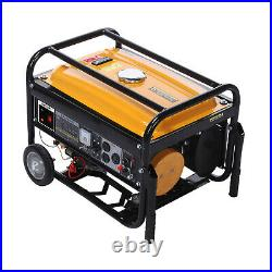 Power Equipment 4200-Watt Portable Generator With Recoil Start And Wheel Kit