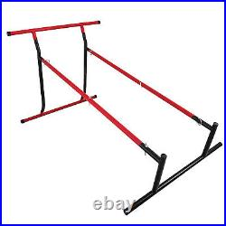 Pull Up Bar Free-Standing Dip Station Portable Power Tower Chin Equipment WithBag