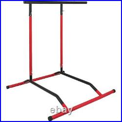 Pull Up Bar Free-Standing Dip Station, Portable Power Tower Home/Sport Equipment