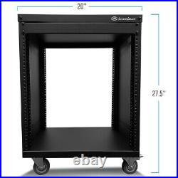 RK 12U Universal Portable Equipment Rolling Cabinet Rack by AxcessAbles