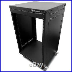 RK 16U Universal Portable Equipment Rolling Cabinet Rack by AxcessAbles
