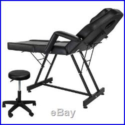 Reclining Hydraulic Barber Chair Styling Salon Beauty Shampoo Equipment WithStool