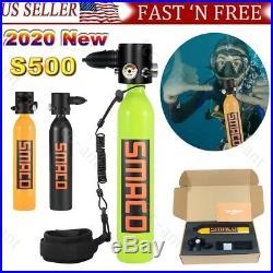 SMACO S500 Portable 0.7L Oxygen Cylinder Air Tank Mini Scuba Diving Equipment
